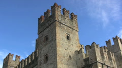 Italy Sirmione castle tower Stock Footage