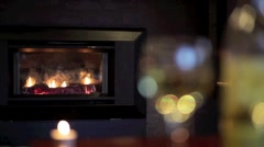 Fire and Wine Loop HD - stock footage
