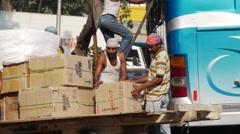 Mumbai street porter P3 Stock Footage