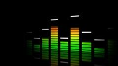 audio level Stock Footage