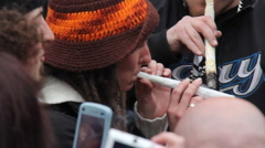 Marijuana Protest Toronto 2011 - 6 Stock Footage