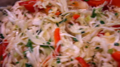 Coleslaw Stock Footage