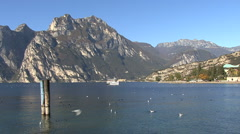 Italy Lake Garda excursion boat Stock Footage