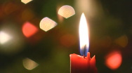 Stock Video Footage of Christmas candle