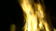 Campfire flames at night. Stock Footage