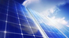 Solar Panels Sky (Loop) - stock footage