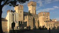 Italy Sirmione castle in sun 7 Stock Footage