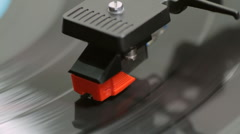 Record Player Needle Top View (HD) Stock Footage