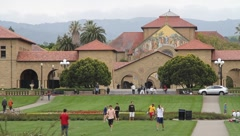 Stanford University Main Quad Stock Footage