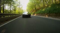 HD720p60 Pontiac Firebird (KITT) speed drive Stock Footage