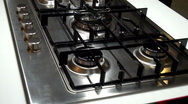 Stock Video Footage of Modern Kitchen Stove