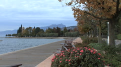 Park in Bardolino by Lago di Garda Stock Footage