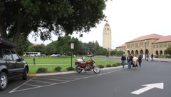 Stanford University Driveby Stock Footage