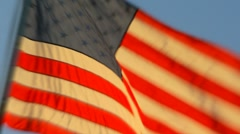 Waving American Flag in slow motion - stock footage