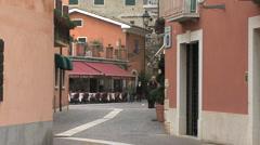 People walking in Bardolino Stock Footage