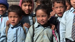 Nepal: Children Sing and Laugh - stock footage