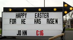 Happy Easter Sign Stock Footage
