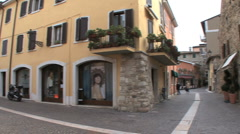A street in Bardolino Italy Stock Footage