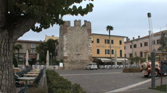 A tower near a hotel in Bardolino Italy Stock Footage