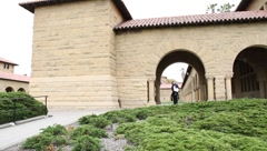main quad at Stanford - stock footage