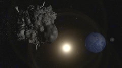 Near Earth Asteroid Animation (HD) Stock Footage