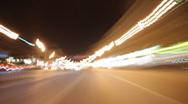 Night road TL Stock Footage