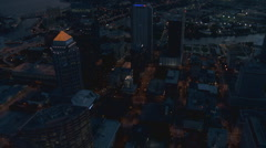 Aerial Tampa Downtown Dusk Vertical - stock footage