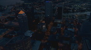 Aerial Tampa Downtown Dusk Vertical Stock Footage