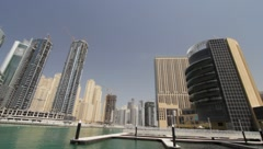 Dubai Seen From Boat Stock Footage
