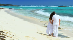 Couple on Hideaway Island Beach - stock footage