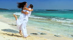 Couple on Dream Vacation Island Stock Footage