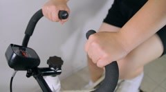 Stationary Exercise Bike Sequence (HD) - stock footage