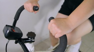 Stationary Exercise Bike Sequence (HD) Stock Footage