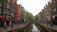 Amsterdam Red Light District, Holland Stock Footage