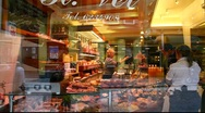 Stock Video Footage of Delicatessen shop display window Full HD 1080p