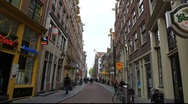 Stock Video Footage of Amsterdam Holland streets, canals, bridges, buildings, boats
