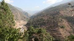 Nepal: River Valley Stock Footage