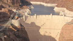 HD 30p zoom in Hoover Dam as seen from atop the memorial bridge Stock Footage
