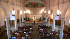 Church Service View from Balcony Stock Footage
