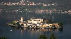 Italy, Lake Orta, Isola di San Giulio, Isola di San Giulio Stock Footage