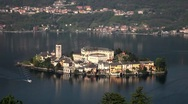 Stock Video Footage of Italy, Lake Orta, Isola di San Giulio, Isola di San Giulio