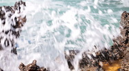 Waves and sea foam Stock Footage