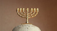 Stock Video Footage of Golden Menorah