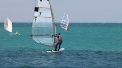 Windsurfer - stock footage