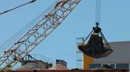 Crane Bucket Stock Footage