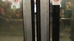 Subway Doors Closing - stock footage