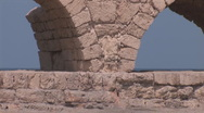 Stock Video Footage of Caesarea aqueduc 3