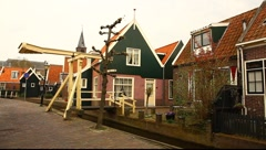 Fishermen's village Holland Stock Footage