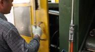 Zinc Die Cast Machine Stock Footage