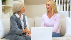 Female Client Meeting with Financial Advisor at Home - stock footage
